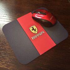 Ferrari Mousepad  Logo Black Background Picture 8.5 X 7