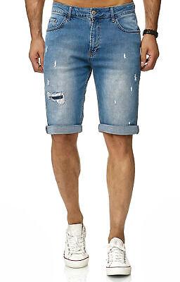 Contemplativo Redbridge Pantaloncini Di Jeans Da Uomo Capri Bermuda Distrutto-usato M4850 Blu