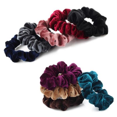 Women Velvet Elastic Scrunchie Ponytail Holder Robber Hairband Rope Accessories