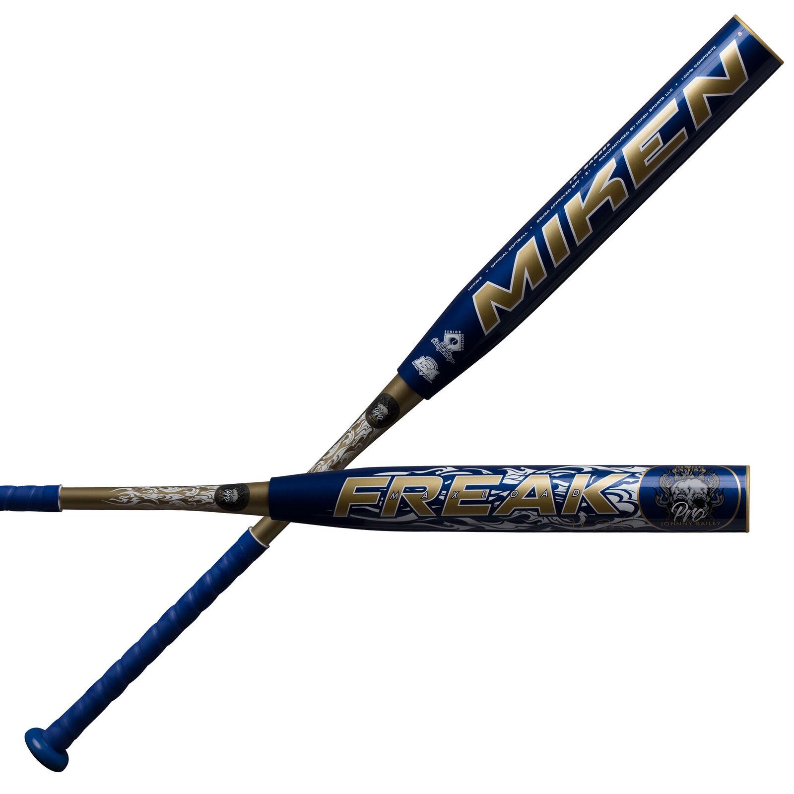 Miken Freak Pro Johnny Bailey MaxLoad MFPR12 Senior Slowpitch Softball Bat Bat Softball 34/28 b20072