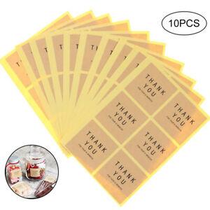 60pcs-Thank-You-Decorative-Sticker-Square-Circle-Handmade-Sticker-Label-Seal