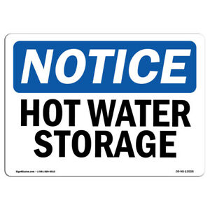 OSHA Notice NOTICE Non-Potable Water SignHeavy Duty Sign or Label