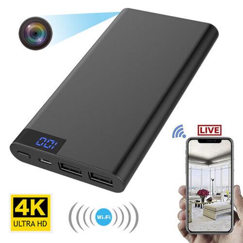 10000mAh Power Bank 4K WIFI HD 1080P Spy Hidden Camera Night Vision DVR Recorder