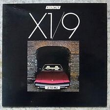 FIAT X1 / 9 A 2 POSTI AUTO SPORTIVA vendite opuscolo settembre 1979