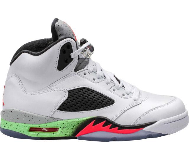 super popular 7a756 854e6 Nike Air Jordan Retro 5 V Poison Green Space Jam Pro Stars Mens 12