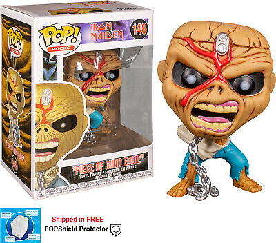 Funko Pop Rocks Iron Maiden Piece of Mind Skeleton Eddie Metal Hard blood 146