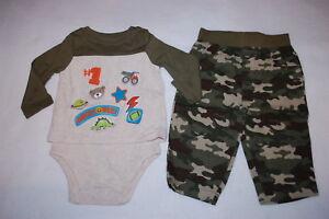 Baby Gap Infant Camo Bear Print Pants Newborn Up To 3 Months Bottoms