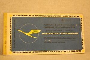 DDR Deutsche Lufthansa Flugschein  Air Flight Ticket 1963