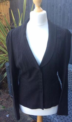 Stripe taglia 16 Giacca Black Whistles vergine grigio 53 con scuro lana Nuovo Iqvwz