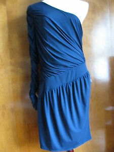 Laundry-By-Design-Women-039-s-Navy-Evening-One-Shoulder-Lined-Dress-Size-12-NWT