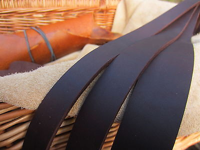 100cm LONG OIL TANNED CHOCOLATE BROWN 2.7mm THICK LEATHER STRAP for bag handles