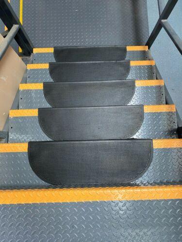 Antideslizante de caucho resistente escalera de rodadura