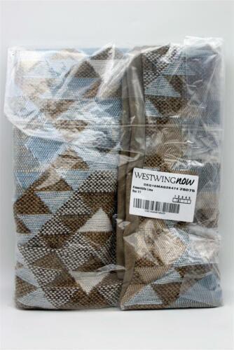 Westwing Kissenbezug Lima Zipper 60 x 60 cm blau