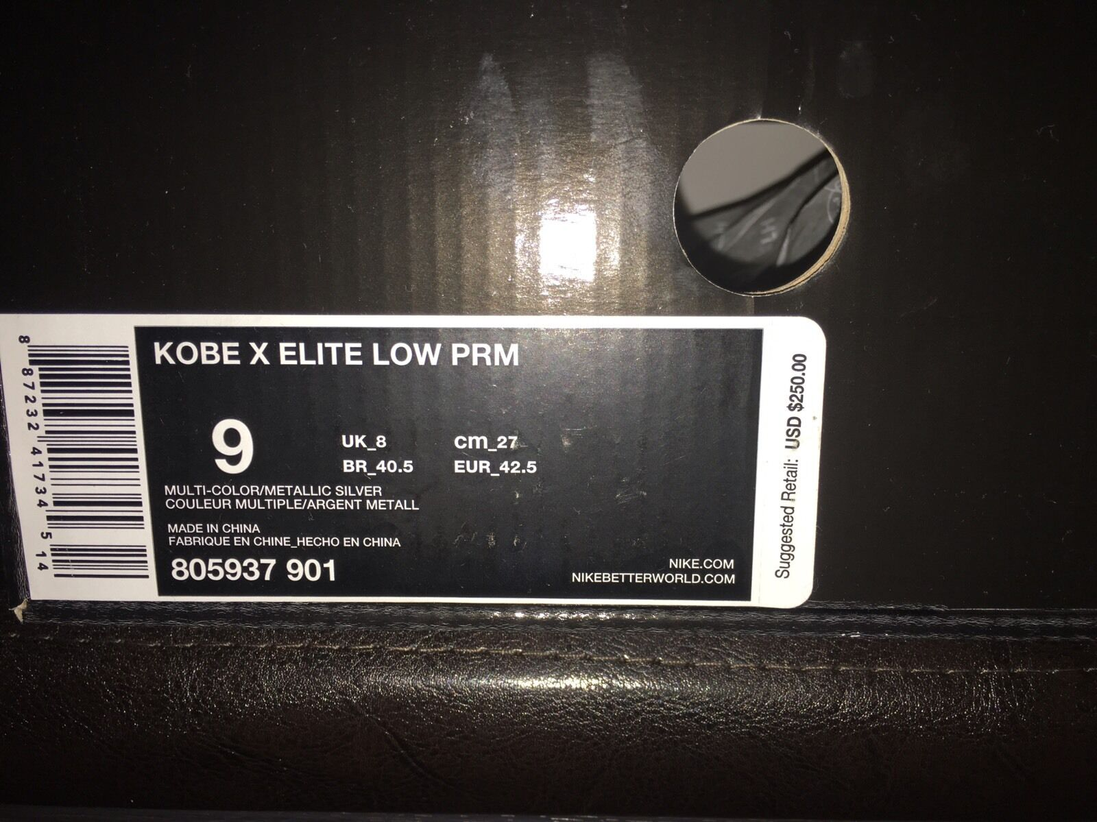 Kobe 10 X Elite Low HTM Race Car Size 9