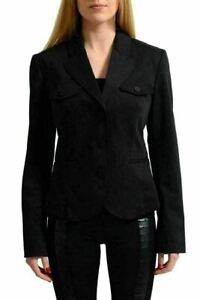 Versace Jean's Couture Women's Black Three Button Blazer US 8 IT 44