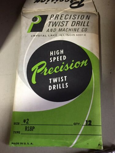 Precision Twist #2 R18P 118° Point Bright Finish HSS Jobber Drill ***NEW 12Pk***