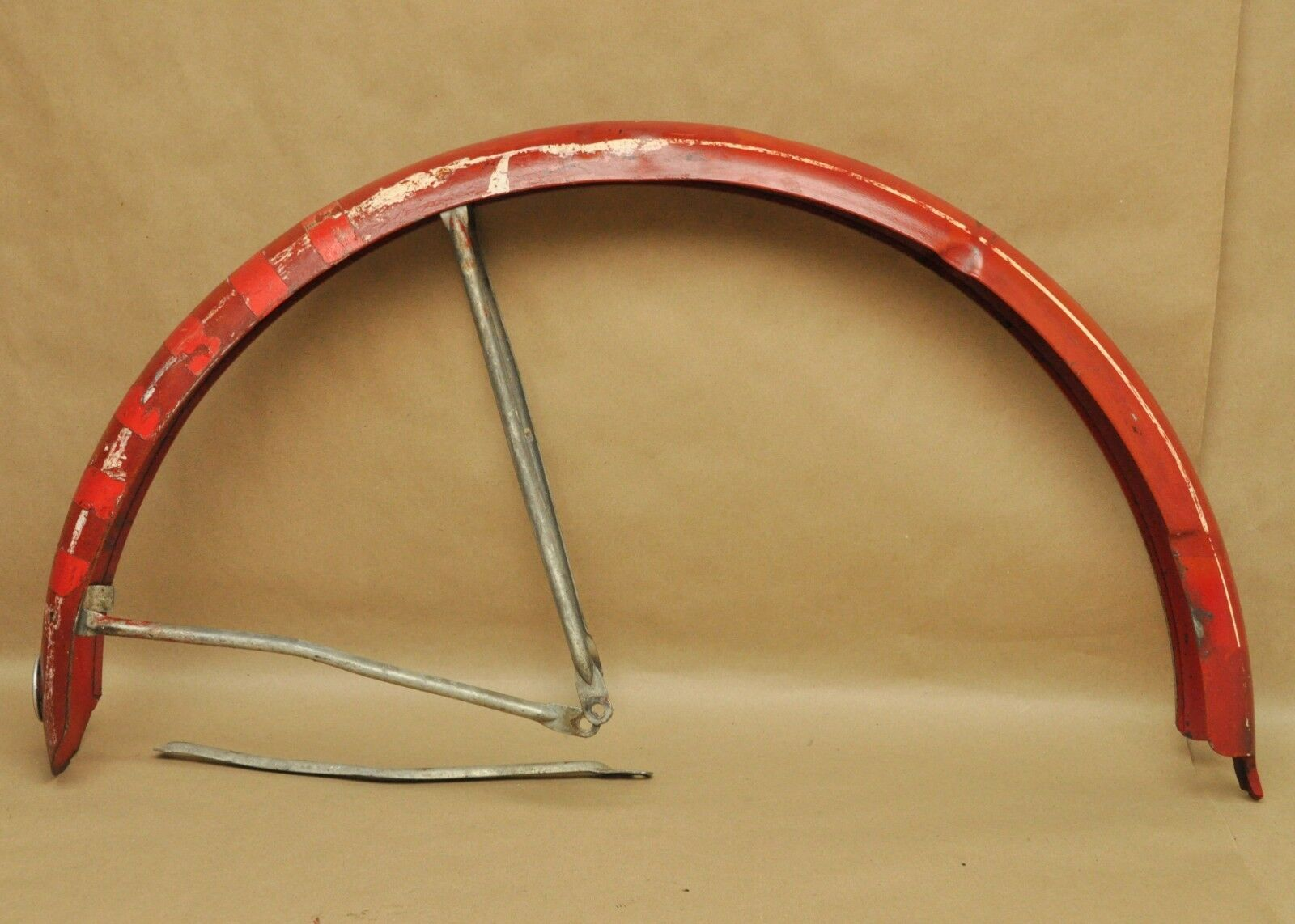 Vintage 1958 Schwinn Spitfire Bicycle Rear Fender Red