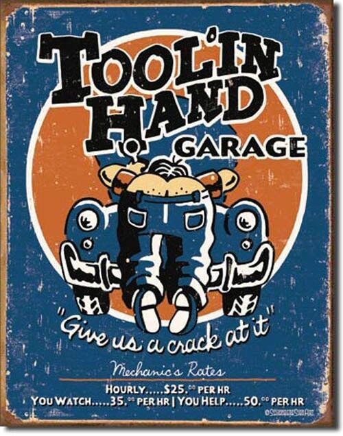Mechaniker Garage Blechschild Schild Vintage Sign Plakat Auto Werkstatt *804