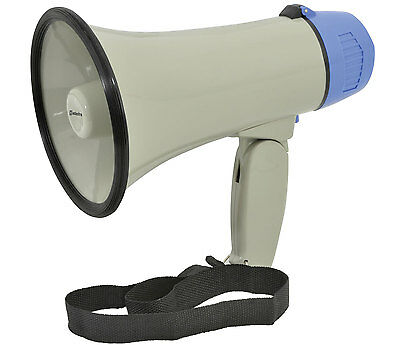 PORTABLE MEGAPHONE 10W LOUD SPEAKER HAILER WITH SIREN HANDHELD