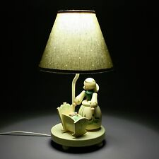 "Vtg 16"" Nursery Baby Light Child Wood Wooden Table Nightstand Lamp Crib Cradle"