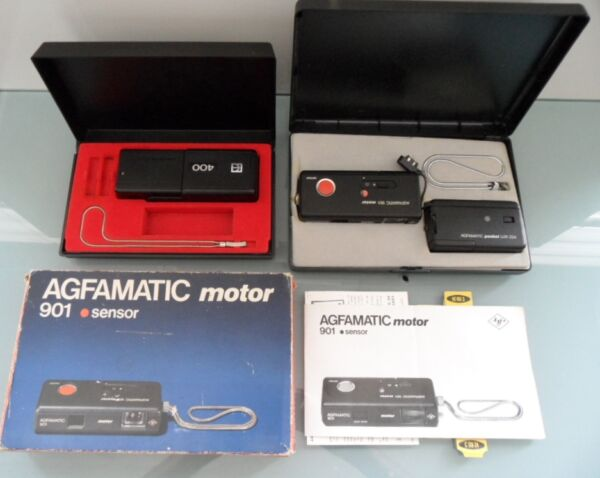2 Appareils Photos Argentique Agfamatic Motor 901 Sensor + Kodak Ektralite 400