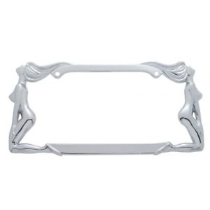 NAKED LADY METAL LICENSE PLATE FRAME CAR TRUCK AUTO CHROME