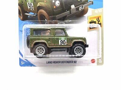 2021 Hot Wheels Land Rover Defender 90 Green & Muddy w ...