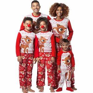53632ebb55e7 Image is loading XMAS-Family-Matching-Christmas-Pajamas-Set-Womens-Mens-