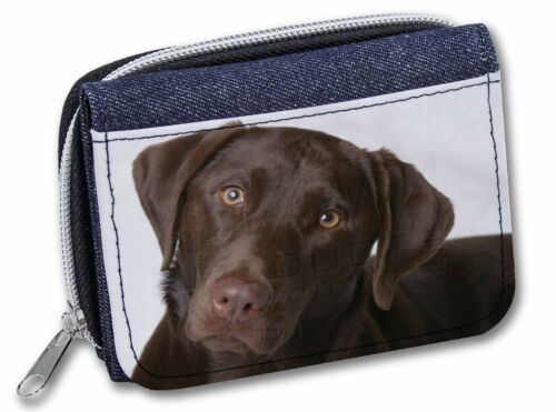 Chocolate Labrador Girls//Ladies Denim Purse Wallet Christmas Gift Idea AD-L32JW