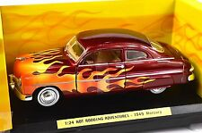 MERCURY COUPE 1949 '49 CUSTOM HOT ROD FLAMES MOTORMAX 76618 1:24 NEW MODEL RED