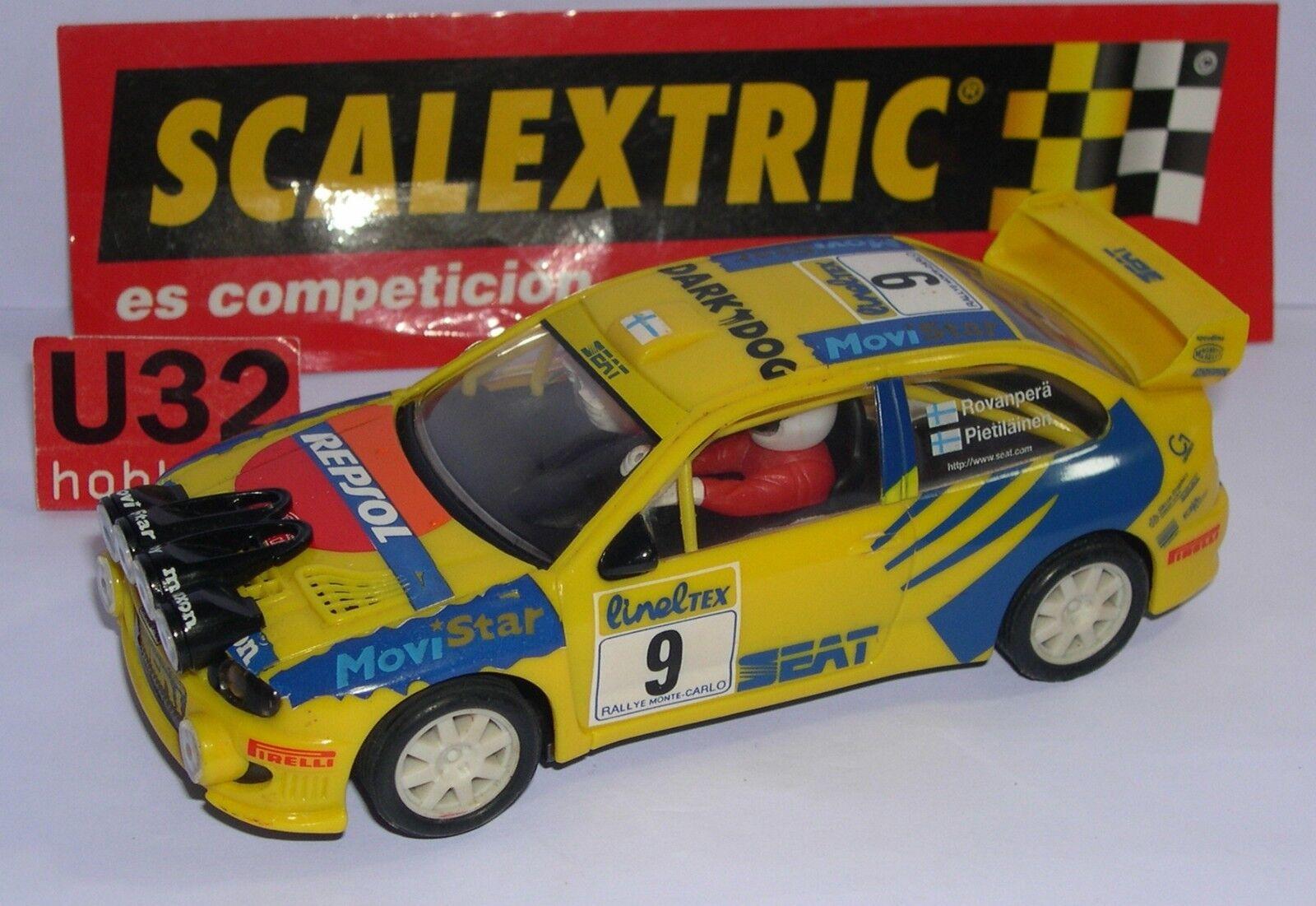 SCALEXTRIC 6023 SEAT CORDOBA WRC  9 H.ROVANPERÄ-R.PIETILAINEN MINT MINT MINT UNBOXED 289cd5