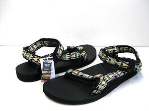 f55252dcfd0913 Teva Original Universal Womens Sandals Mosaic Black US 11  UK9  EU42 ...