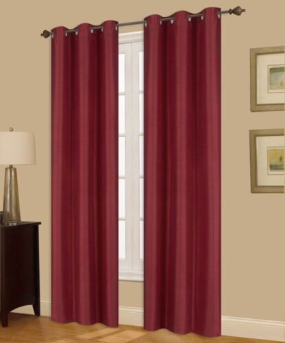 2 A72 Burgundy Persian Insulated Thermal Privacy Blackout Window Curtain Panels