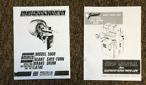 ammco 5000 giant heavy duty brake lathe operating repair manual w rh ebay com Ammco Brake Lathe Ammco Brake Lathe
