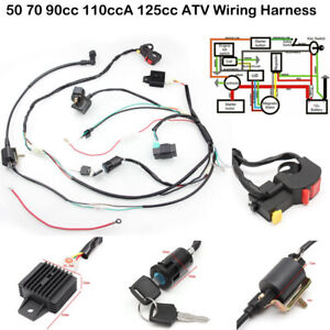 CDI Wire Harness Stator Assembly Wiring Kit For Chinese ATV Quad 50cc-125cc  #D | eBayeBay