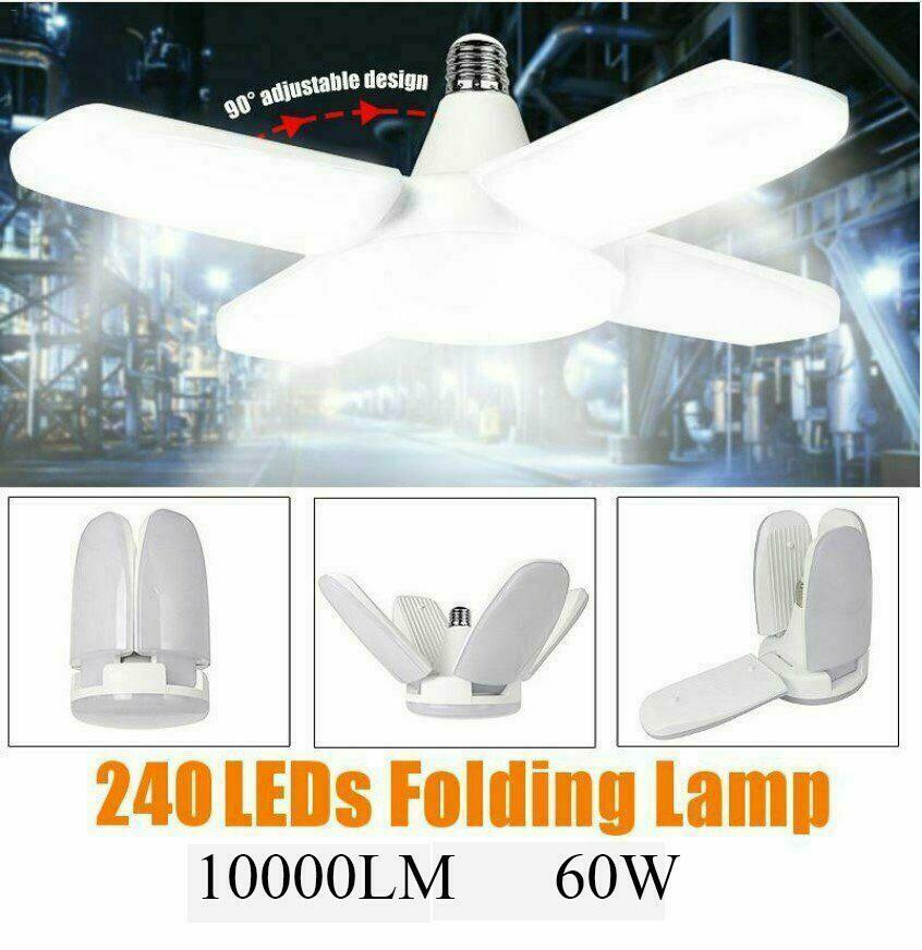 60W E27 LED Garage Light Screw In Bulb Deformable Ceiling Light 8000LM Sale!