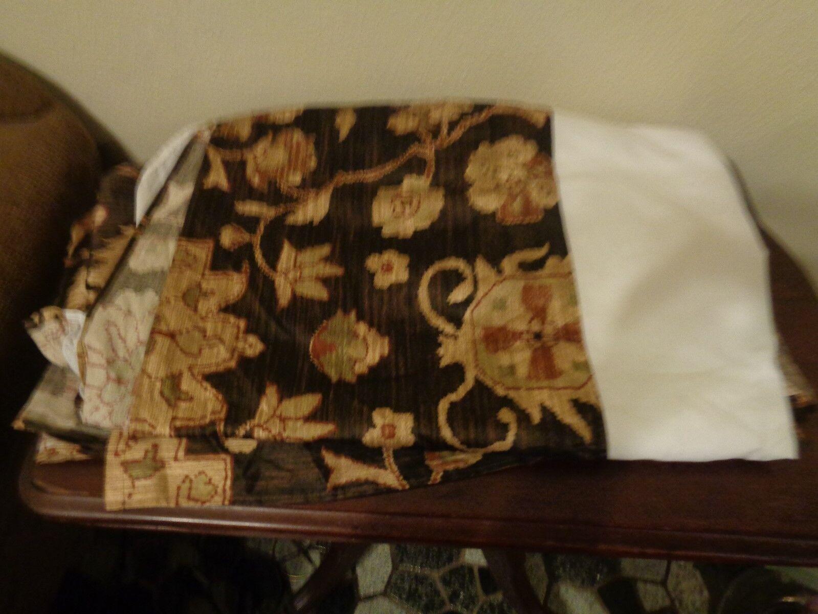 Ralph Lauren Harriman Beekman Queen Bed Skirt 15  Drop Brown Floral USA