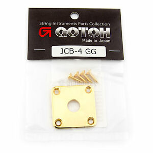 Gotoh JCB-4 Les Paul Jack Plate Curved for Gibson Style Guitar w/ Screws - GOLD