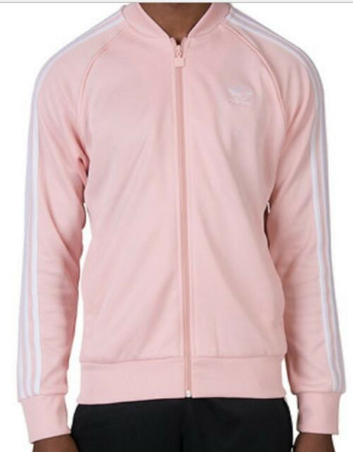 Mens Adidas Originals SST Superstar Track Top Jacket CE8041 Pink