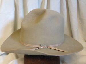 Image is loading Vintage-Stetson-Western-3X-Beaver-Mens-Beige-Teardrop- 4610e0c5072