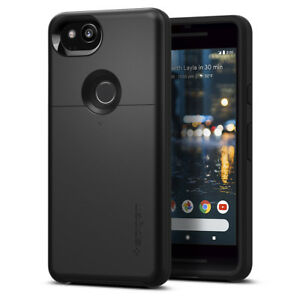 innovative design 269d8 7a43a Details about Spigen® Google Pixel 2 [Slim Armor CS] Dual Layer Wallet and  Card Slot Case