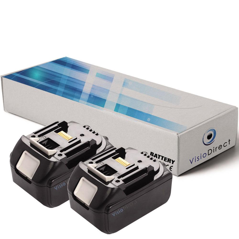 Lot de 2 batteries 18V 3000mAh pour MAKITA BSS610RFE - Société Française -