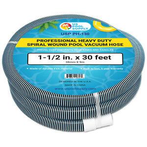 3.8cm X 9,1m Résistant Spirale Blessure Piscine Tuyau Aspirateur, Pivotant Xsafbynu-10042043-677606079