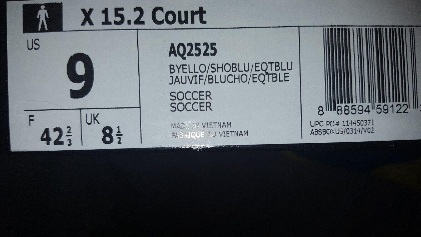 ADIDAS X X X 15.2 COURT Gelb Blau BRAZIL schuhe AQ2525 MENS US 9 NEW SOCCER 23175d