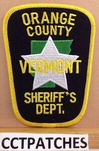SHOULDER IRON VERMONT STATE POLICE SEW ON PATCH