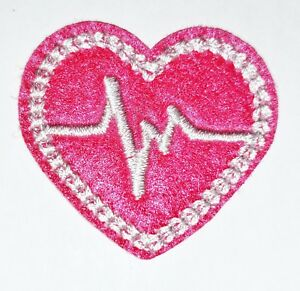 Iron On Patch Nurse WHT Doctor EKG Heart Medical 2PCS Stethoscope