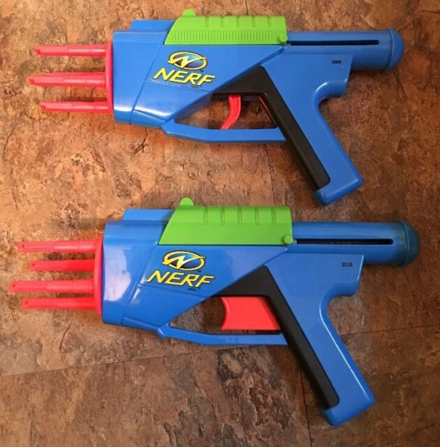 Excellent RARE Vintage 90s NERF Toy Foam Dart Gun 1998 Larami Model 4532-0  JB87