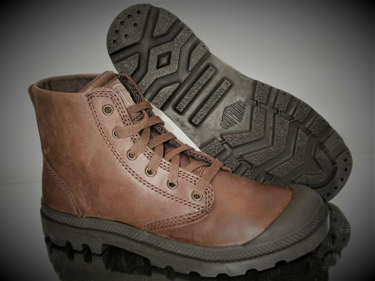 PALLADIUM Pampa HI Leather Mens Stiefel Gr. 41 02355255 Chocolate Neu&OVP