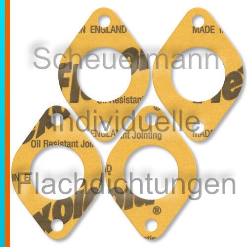 Dellorto DRLA Solex PII 4x Dichtung Vergaserfuß-Anasugbrücke Weber 40 IDF+DCNL