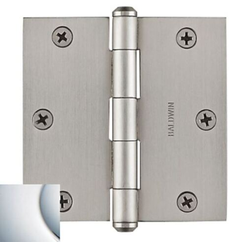 Baldwin Reserve Door Hinges 3.5 Inch Square in 6 Finishes New